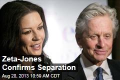 Douglas, Zeta-Jones Separate
