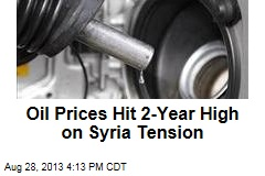 Oil Prices Hit 2-Year High on Syria Tension
