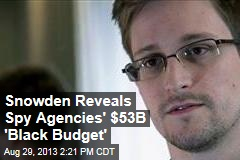 Snowden Reveals 'Black Budget' of Spy Agencies