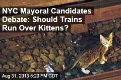 NYC Mayoral Candidates Debate: Should Trains Run Over Kittens?