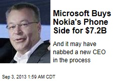 Microsoft's $7.2B Nokia Buy May Include New Boss