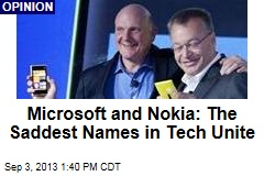 Microsoft and Nokia: The Saddest Names in Tech Unite