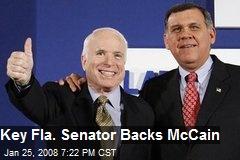 Key Fla. Senator Backs McCain