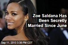 Zoe Saldana Has Been Secretly Married Since June