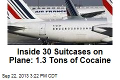 Cops Sieze 1.3 Tons of Cocaine From Air France Plane
