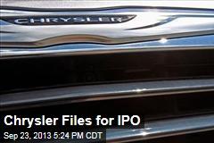 Chrysler Files for IPO