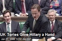 UK Tories Give Hillary a Hand