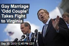 Gay Marriage 'Odd Couple' Takes Fight to Virginia