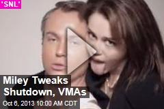 Miley Tweaks Shutdown, VMAs