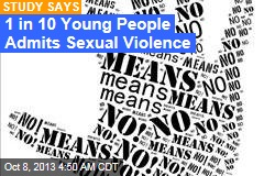 1 in 10 Young People Admits Sexual Violence