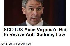 Va. Loses Bid to Bring Back Anti-Sodomy Law