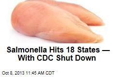 Salmonella Hits 18 States —With CDC Shut Down