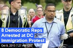 8 Democratic Reps Arrested at DC Immigration Protest