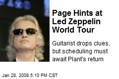 Page Hints at Led Zeppelin World Tour