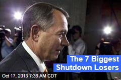 The 7 Biggest Shutdown Losers