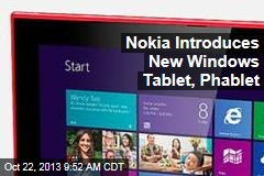 Nokia Introduces New Windows Tablet, Phablet