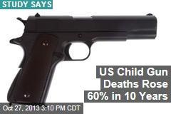 US Child Gun Deaths Rose 60% in 10 Years
