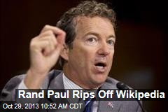 Rand Paul Rips Off Wikipedia