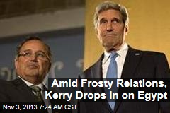 Amid Frosty Relations, Kerry Drops In on Egypt