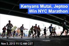 Kenyans Mutai, Jeptoo Win NYC Marathon