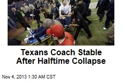 Texans Coach Stable After Halftime Collapse