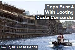 Cops Bust 4 With Looting Costa Concordia