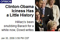 Clinton-Obama Iciness Has a Little History
