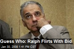 Guess Who: Ralph Flirts With Bid