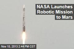 NASA Launches Robotic Mission to Mars