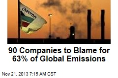 90 Companies to Blame for 63% of Global Emissions