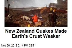 New Zealand Quakes Made Earth's Crust Weaker