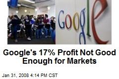 Google's 17% Profit Not Good Enough for Markets