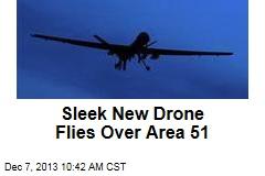 Sleek New US Drone Flies Over Area 51