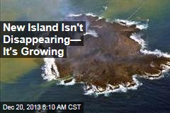 New Island Isn't Disappearing— It's Growing