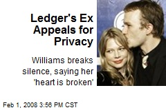 Ledger's Ex Appeals for Privacy