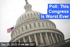 Poll: Worst Congress Ever. Ever.