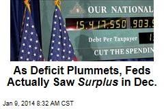 As Deficit Plummets, Feds Actually Saw Surplus in Dec.
