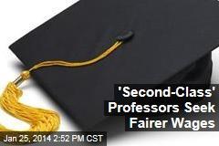 'Second-Class' Professors Seek Fairer Wages