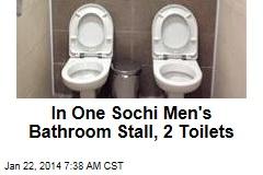 In One Sochi Men's Bathroom Stall, 2 Toilets