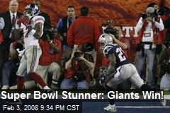 Super Bowl Stunner: Giants Win!