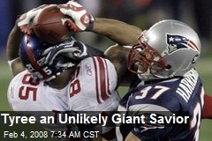 Tyree an Unlikely Giant Savior