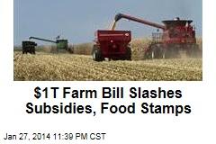 New Farm Bill Slashes Subsidies, Food Stamps