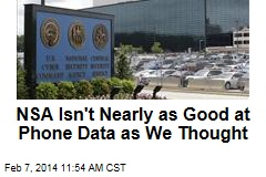 NSA Isn't Nearly as Good at Phone Data as We Thought