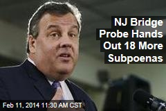 NJ Bridge Probe Hands Out 18 More Subpoenas