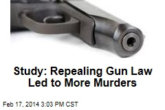 Study: Repealing Gun Law Led to More Murders