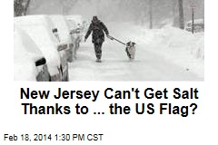 Salt-Strapped Jersey's Problem: A Missing US Flag
