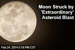 Moon Struck by Biggest-Ever Asteroid Blast