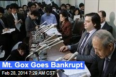 Mt. Gox Goes Bankrupt