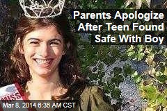 Parents Apologize After Teen Found Safe With Boy