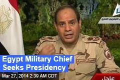 Egypt Military Chief Seeks Presidency